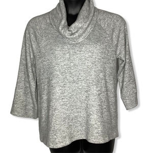 Cable and Gauge Cowl Neck Sweater Size XL
